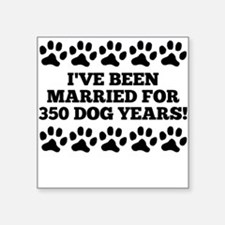 50th Anniversary Dog Years Sticker