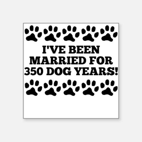 50th Anniversary Dog Years Sticker