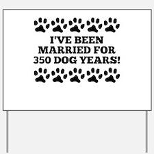50th Anniversary Dog Years Yard Sign