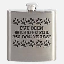 50th Anniversary Dog Years Flask