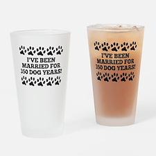 50th Anniversary Dog Years Drinking Glass