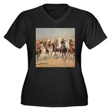 A Dash For Timber by Remington Plus Size T-Shirt