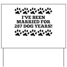 40th Anniversary Dog Years Yard Sign