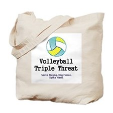 TOP Volleyball Slogan Tote Bag