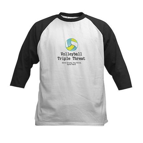 Volleyball Slogan Kids Baseball Jersey