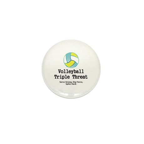 Volleyball Slogan Mini Button (100 pack)