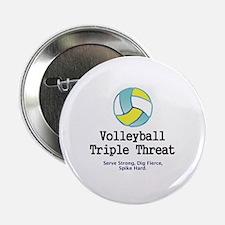 """Volleyball Slogan 2.25"""" Button"""