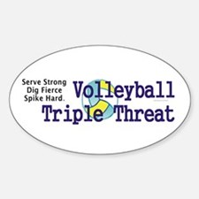 Volleyball Slogan Decal