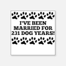 33rd Anniversary Dog Years Sticker