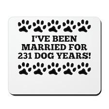 33rd Anniversary Dog Years Mousepad