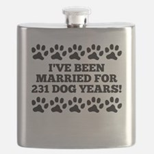 33rd Anniversary Dog Years Flask