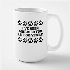 33rd Anniversary Dog Years Mugs