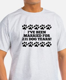 33rd Anniversary Dog Years T-Shirt