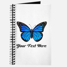 Blue Butterfly Custom Text Journal