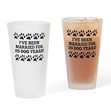 27th Anniversary Dog Years Drinking Glass