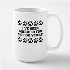 27th Anniversary Dog Years Mugs