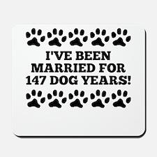 21st Anniversary Dog Years Mousepad