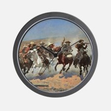 A Dash For Timber by Remington Wall Clock
