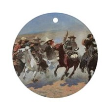 A Dash For Timber by Remington Ornament (Round)