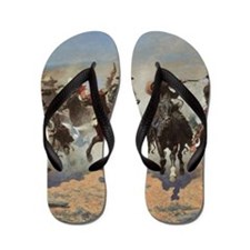 A Dash For Timber by Remington Flip Flops