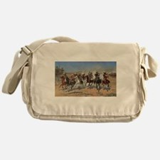 A Dash For Timber by Remington Messenger Bag