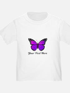 Purple Butterfly Custom Text T
