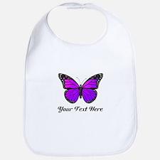 Purple Butterfly Custom Text Bib