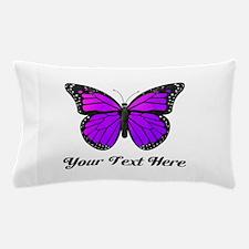 Purple Butterfly Custom Text Pillow Case