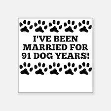 13th Anniversary Dog Years Sticker