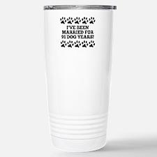 13th Anniversary Dog Years Travel Mug