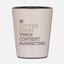 Content Marketing Shot Glass