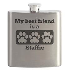 My Best Friend Is A Staffie Flask