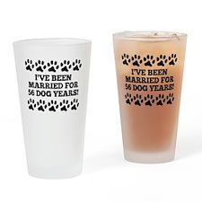 8th Anniversary Dog Years Drinking Glass