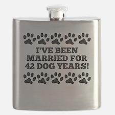 6th Anniversary Dog Years Flask