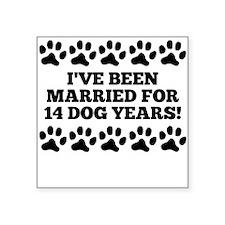 2nd Anniversary Dog Years Sticker