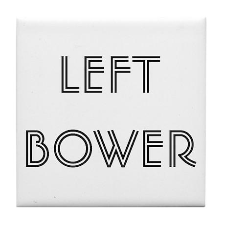 Euchre Left Bower Tile Coaster