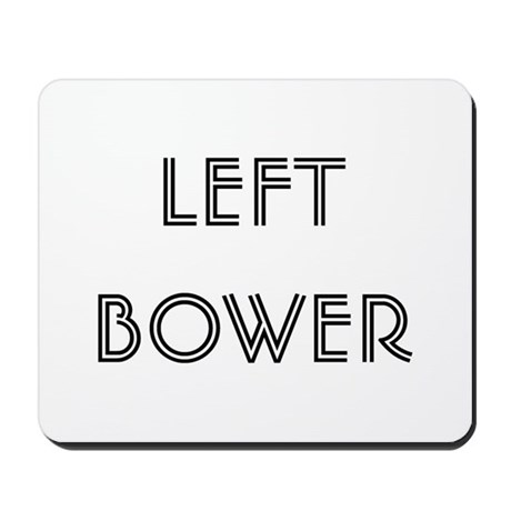 Euchre Left Bower Mousepad