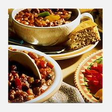 Chili with Cornbread Tile Coaster