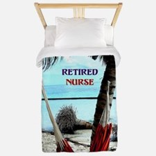 Retired Nurse, hammock under the palm t Twin Duvet