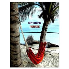 Retired Nurse, hammock under the palm trees Poster