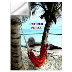 Retired Nurse, hammock under the palm trees Wall Decal