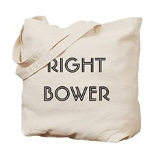 Euchre Right Bower Tote Bag