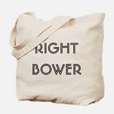Euchre Right Bower Tote Bag