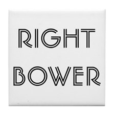 Euchre Right Bower Tile Coaster