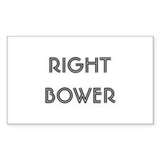 Euchre Right Bower Rectangle Decal