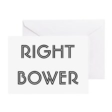 Euchre Right Bower Greeting Card