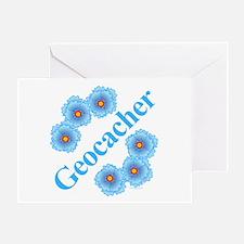 Geocacher Flowers Greeting Card
