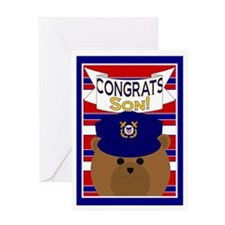 Congrats Son Coast Guardsman Greeting Card