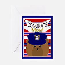 Congrats Mom Coast Guardsman Greeting Card