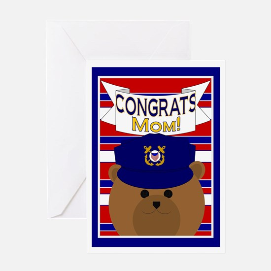 Congrats Mom Coast Guardsman Greeting Card